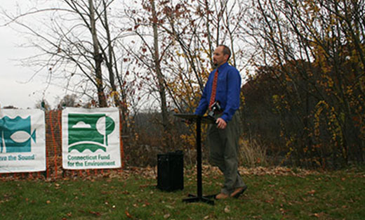 Resource Conservationist Todd Bobowick represented NRCS at the Pond Lily press event.