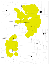 Thumbnail of  lesser prairie chicken focal area map