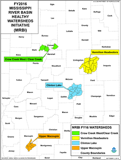 Map of FY2016 MRBI Watersheds