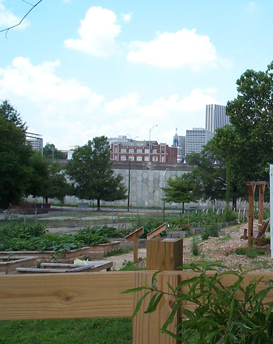 Urban agriculture is showcase in the Atlanta landscape.