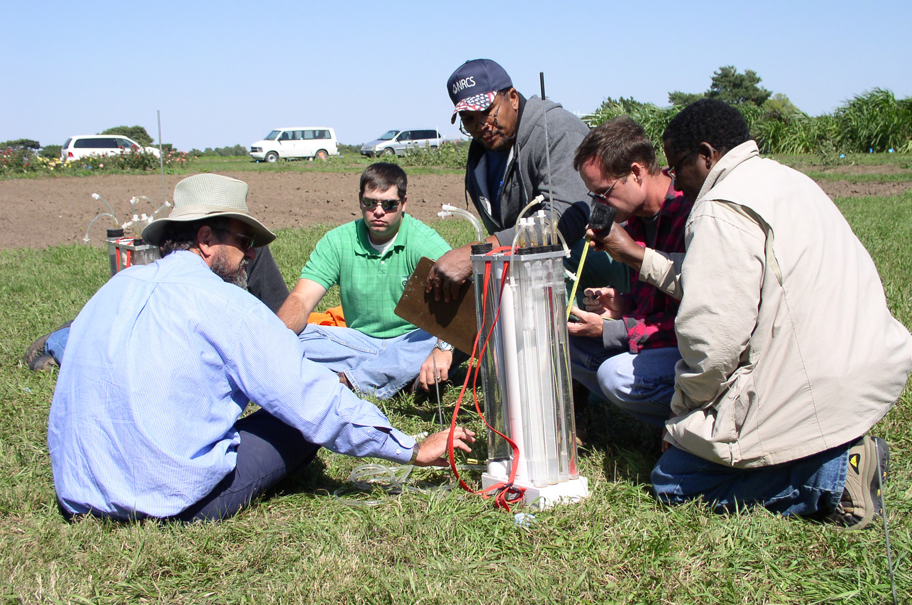 Soil survey training in the field.
