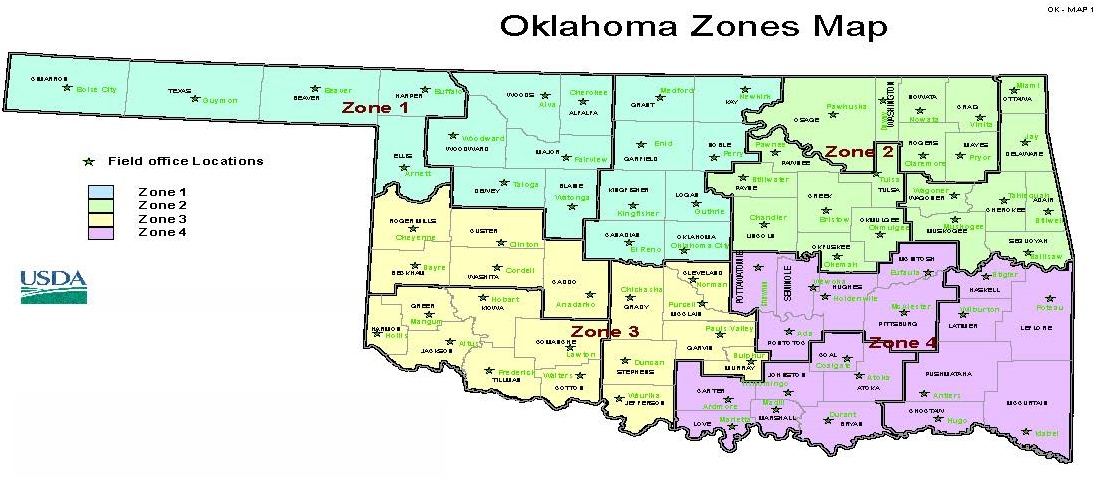 Oklahoma Zone Map