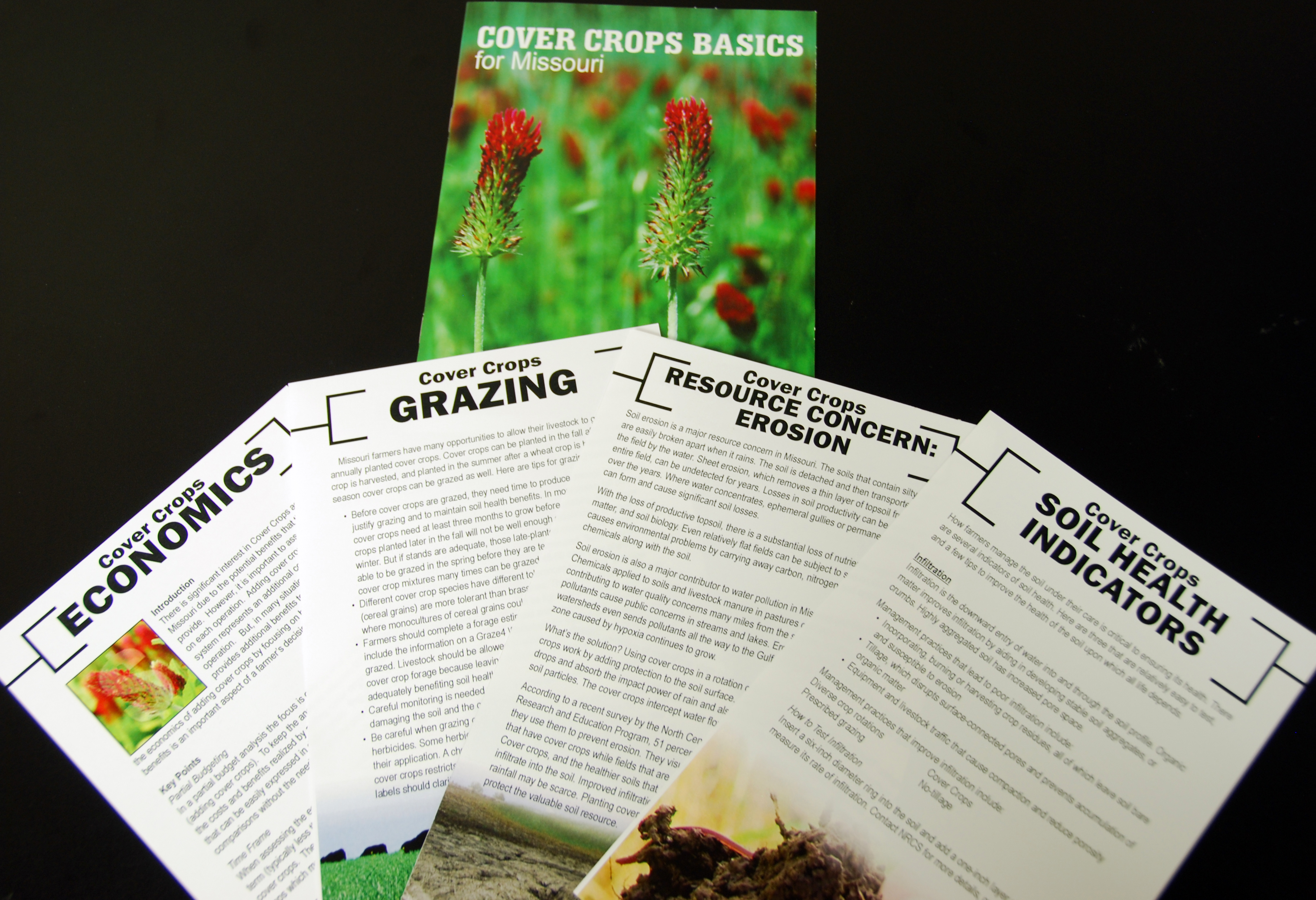 Missouri Cover Crop folder with inserts.