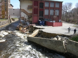 Damage on riverbanks due to 2010 Flood
