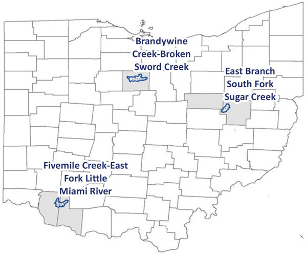 FY16 NWQI Ohio Watershed Map