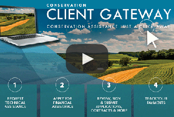 Conservation assistance is just a click away with Client Gateway.