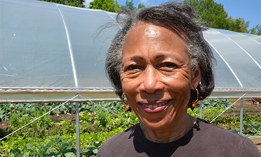 Marianna, AR resident Mildred Griggs installed a seasonal high tunnel through the U.S. Department of Agriculture (USDA) StrikeForce Initiative for Rural Growth and Opportunity.