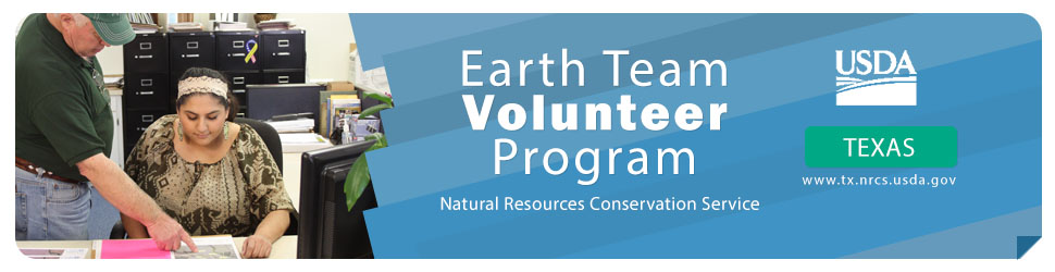 Earth Team Volunteer Program banner