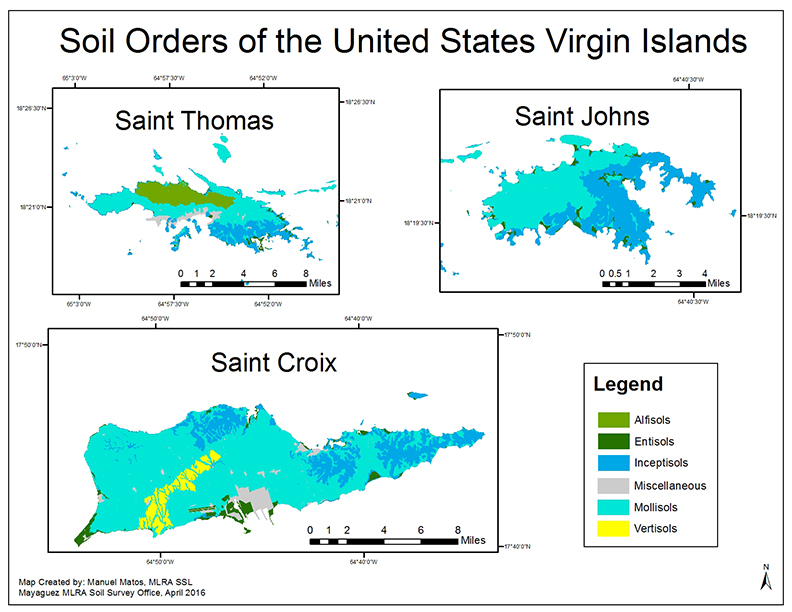 Soil Orders Of Puerto Rico Map 2016 Soil Orders Of The United States Virgin Islands 042616