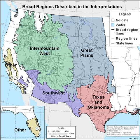 2014 NRI Rangeland Resource Assessment Index Of Maps NRCS - Great Plains On Us Map