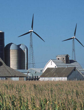farm with wind power, link to market-based approaches