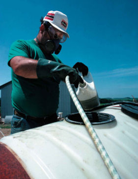 pesticide application photo, link to pest management