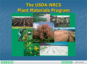 Cover picture of the Plant Materials Training Module