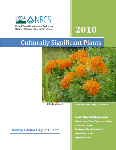 Cover of Culturally Significant Plants Publication