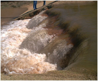 photo of water over spillway