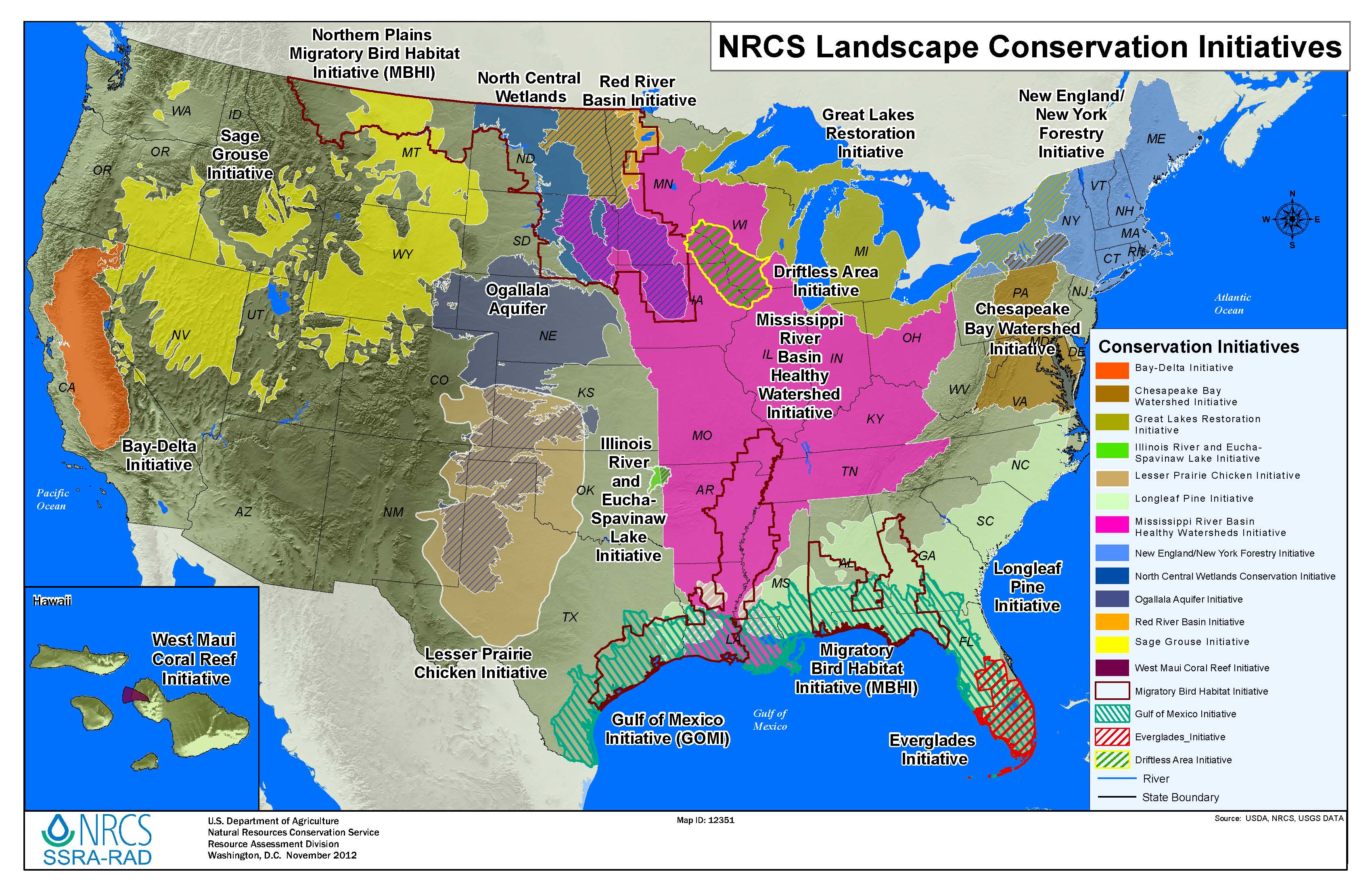 Us Landscape Map - Natural resources map of us