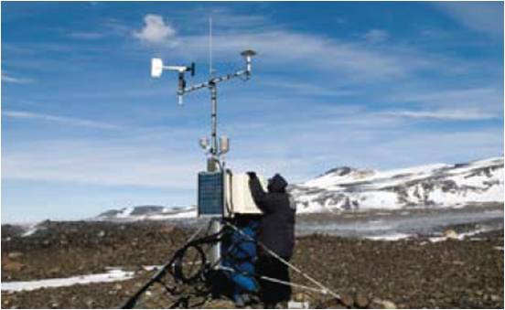 A soil climate station at Minna Bluff