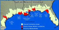 Gulf of Mexico Initiative Map