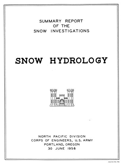 snow hydrology report cover