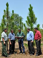 NRCS District Conservationist meets with members of the Alabama-Coushatta Tribe in TX