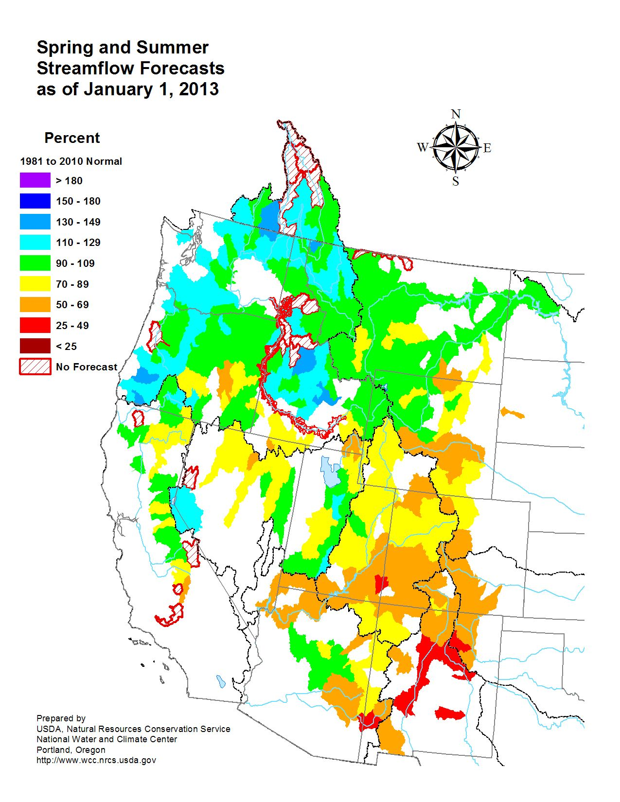 January 2013 Spring and Summer Streamflow Forecast