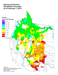Feb 2013 - Streamflow Forecast