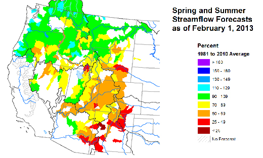 Feb 2013 Water Supply Forecast