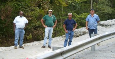 Bill Thomas, Engineer (pictured far left)