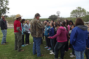 Students learn about plant identification. Photo by Adelaida S. Fields