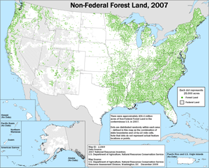 Forest Land dot density map