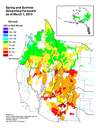 March 2013 Streamflow Forecast