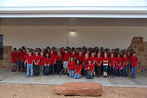 Seventy-seven fifth and sixth grade students from Bronte and Robert Lee participate in Conservation Day 2012.