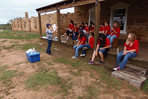 Station Six – Amanda Bragg, NRCS, discusses different soil types with the students.