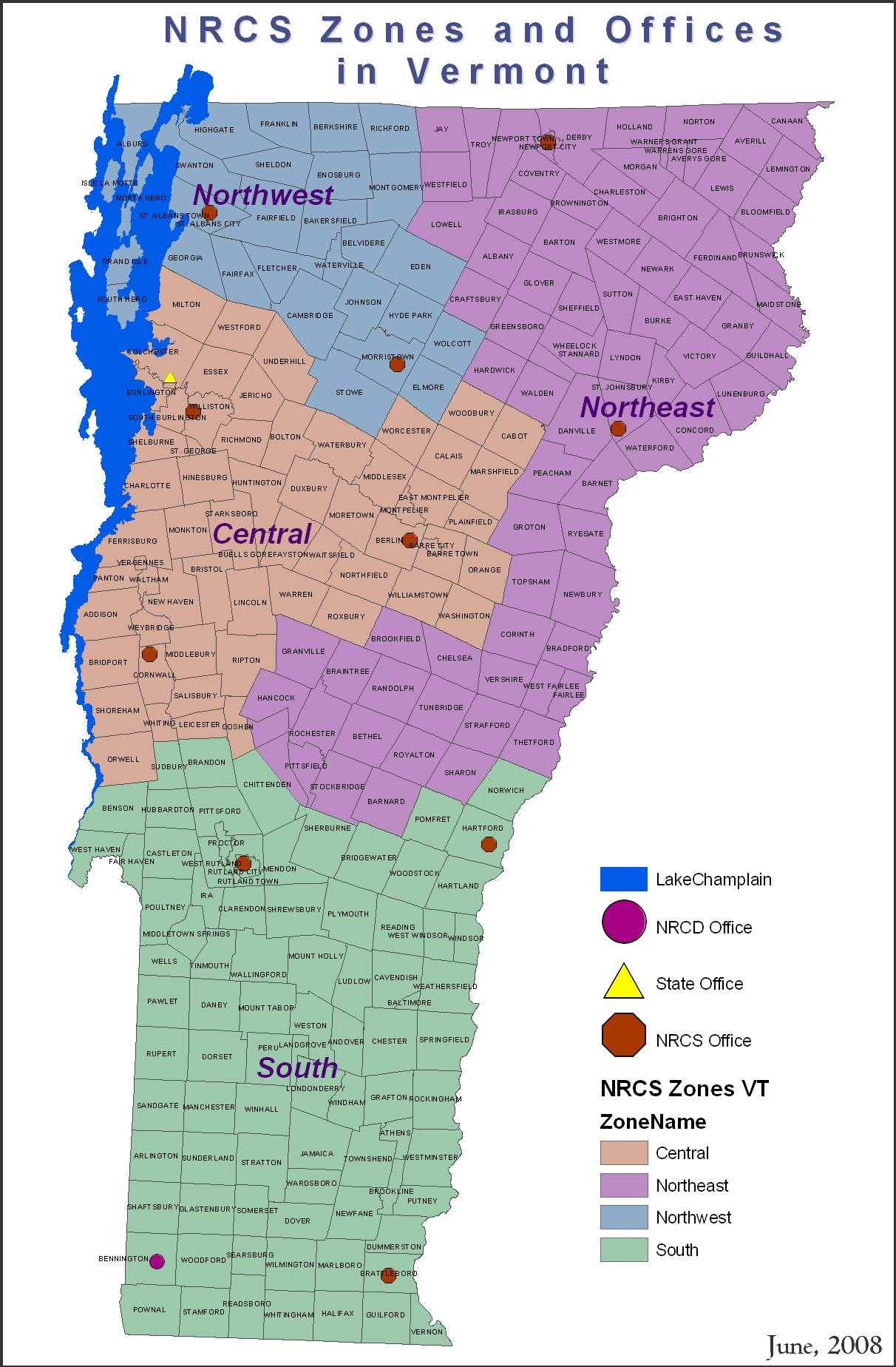 Contact Us NRCS Vermont - Us map vermont