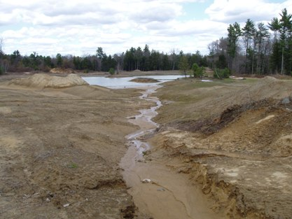 Gravel Pit Restoration Before