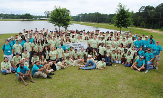Staff and participants in the 2012 Natural Resources Conservation Workshop held each year at Abraham