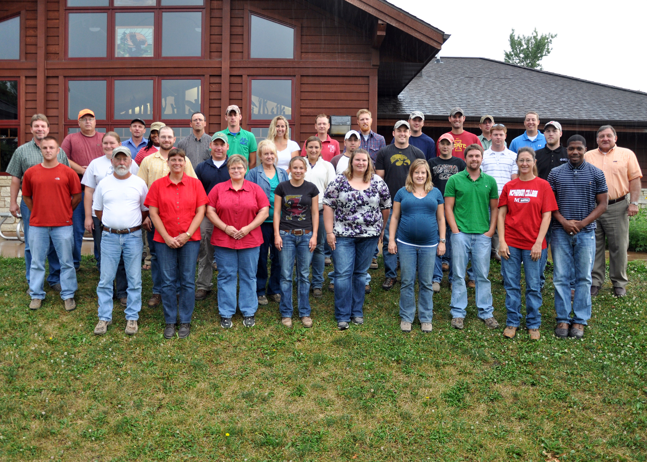 NRCS employees pose for a picture at engineering application training at the Grimes Farm.