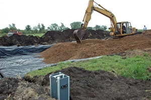 A bioreactor is being constructed in north central Iowa.