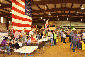 The community center in Seymour, Texas was filled with vendors during the Ag Day celebration.