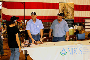 NRCS employees Jeff Groves (l) and David Howell helped plan and organize Ag Appreciation Day.