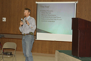NRCS Agronomist Nathan Haile in Zone 5 was keynote speaker for the 23rd Annual Ag Appreciation Day.