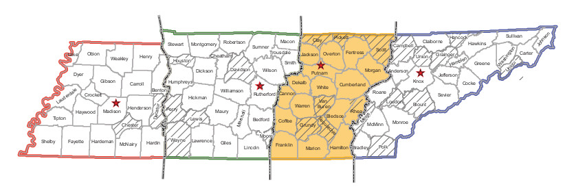Area 3 State Map