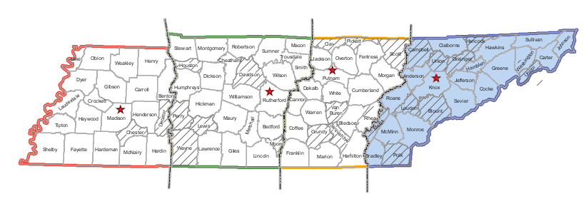 Area 4 State Map