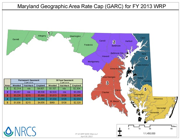 Maryland Geographic Area Rate Caps 2013