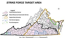 Virginia StrikeForce Target Areas