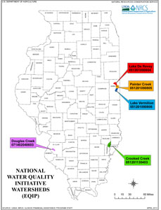 map of statewide WQ watersheds