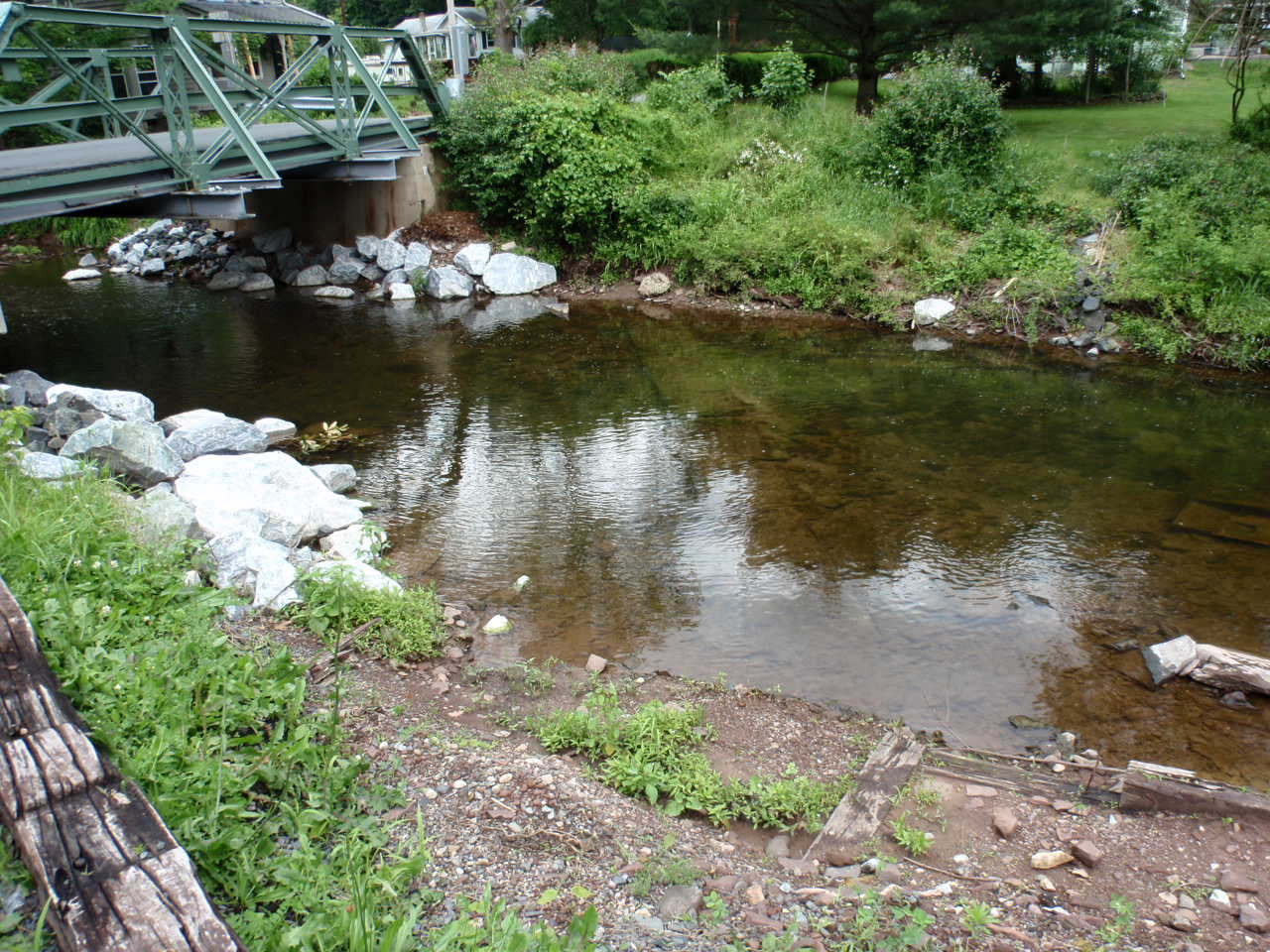 Sewer line and bridge compromised by Irene