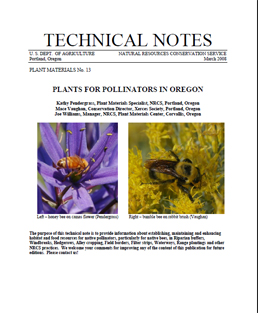 Cover of Plants for Pollinators in Oregon