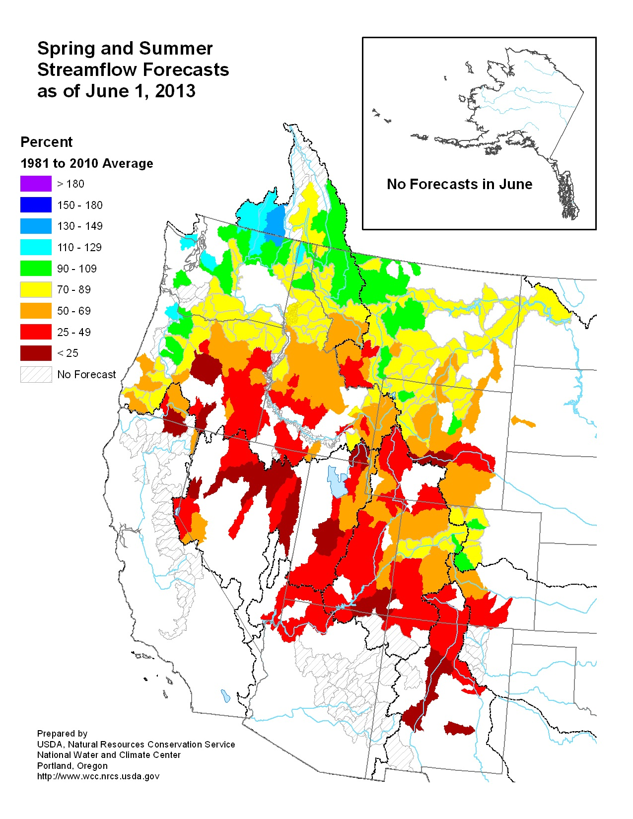 June 2013 Spring and Summer Streamflow Forecasts
