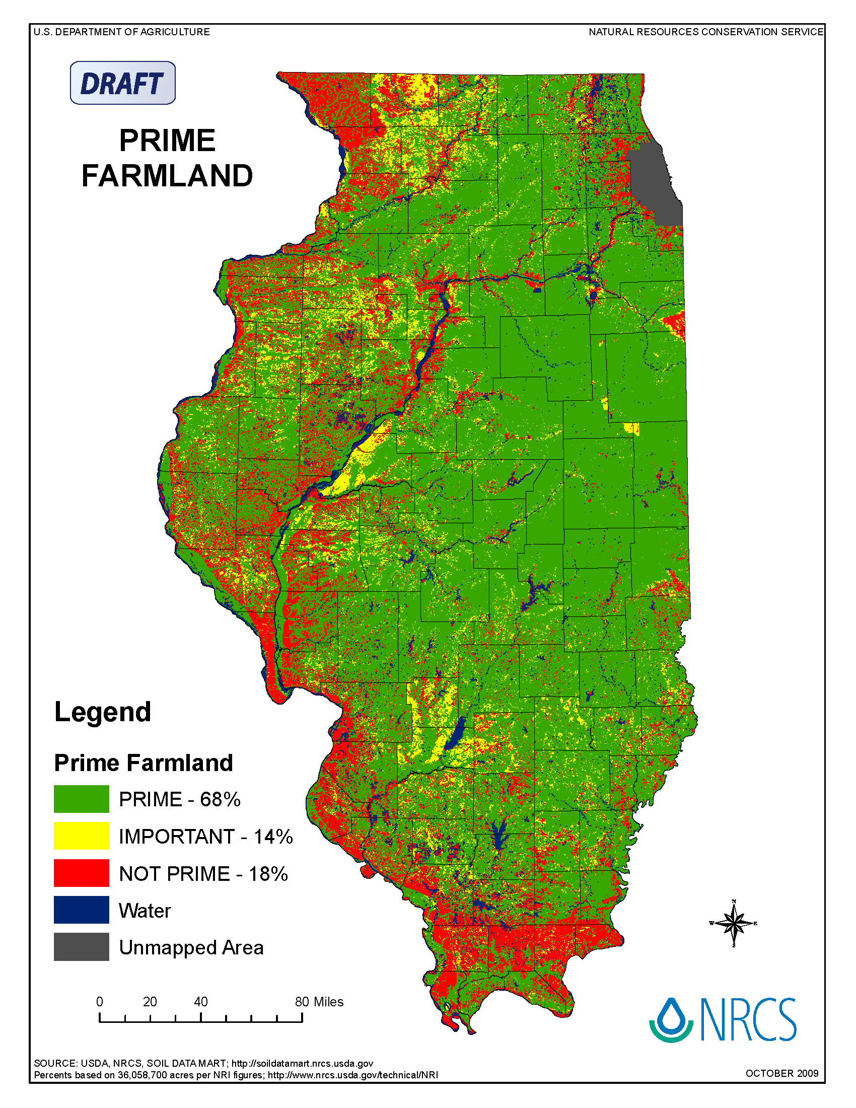 Illinois Suite Of Maps NRCS Illinois - Land use classification map us